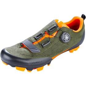 Fizik Terra X5 Suede Zapatillas MTB, military green/orange fluo